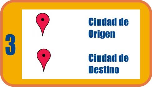 Ciudad de Origen y Ciudad de Destino